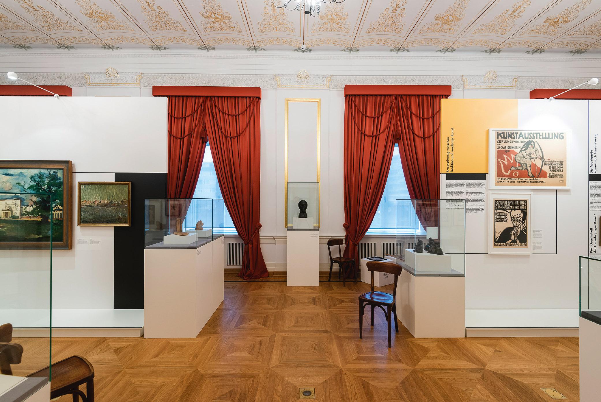 Das flexible Mila-wall Stellwandsystem vom MBA in einer Ausstellung im Schlossmuseum Braunschweig