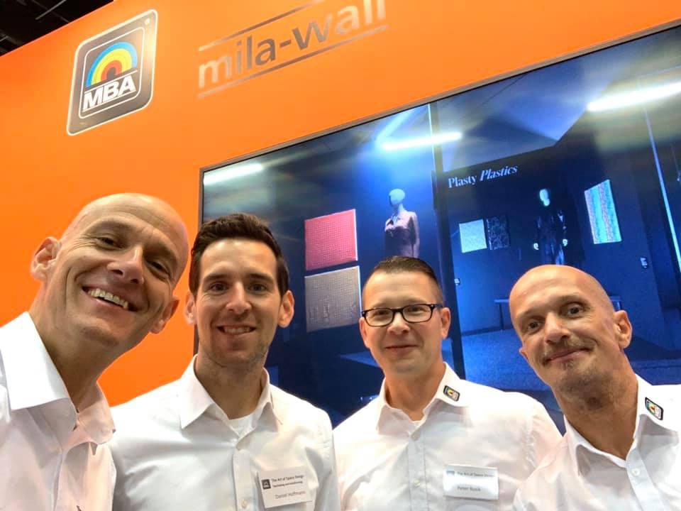 Das MBA-Team am Messestand auf der Exponatec in Köln im November 2019