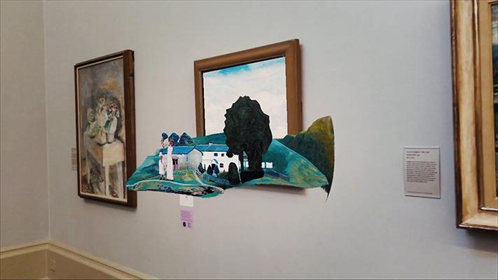 Mit Augmented Reality erweiterte Kunstwerke im Tate Museum in Großbritannien