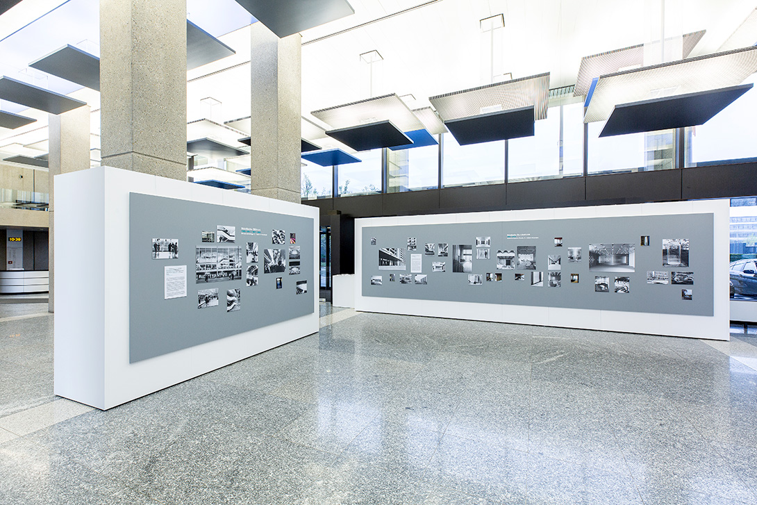 Exhibition room with Mila-wall technology at the Deutsche Bundesbank in Frankfurt am Main
