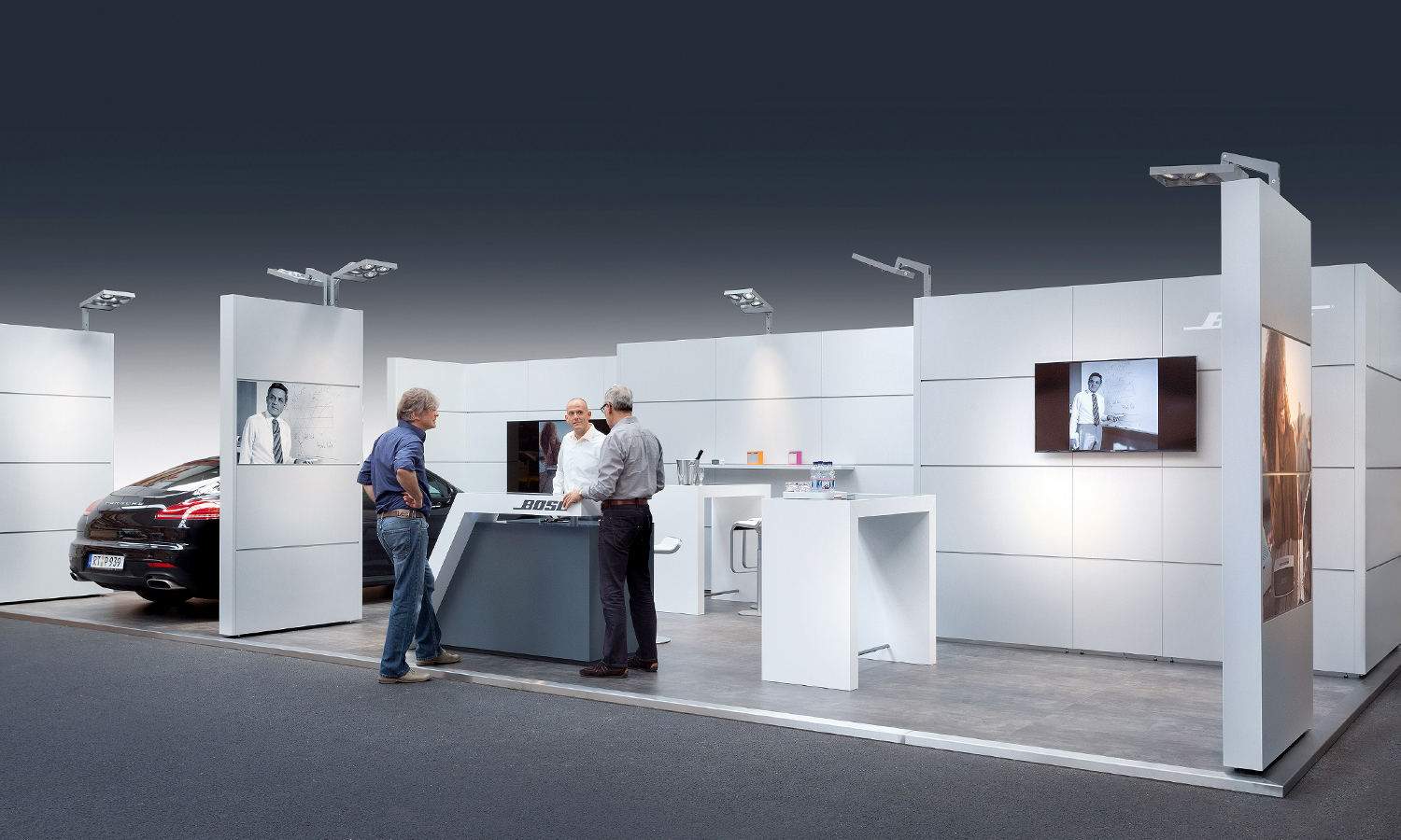 Bose Messestand mit Mila-wall Wandmodulen