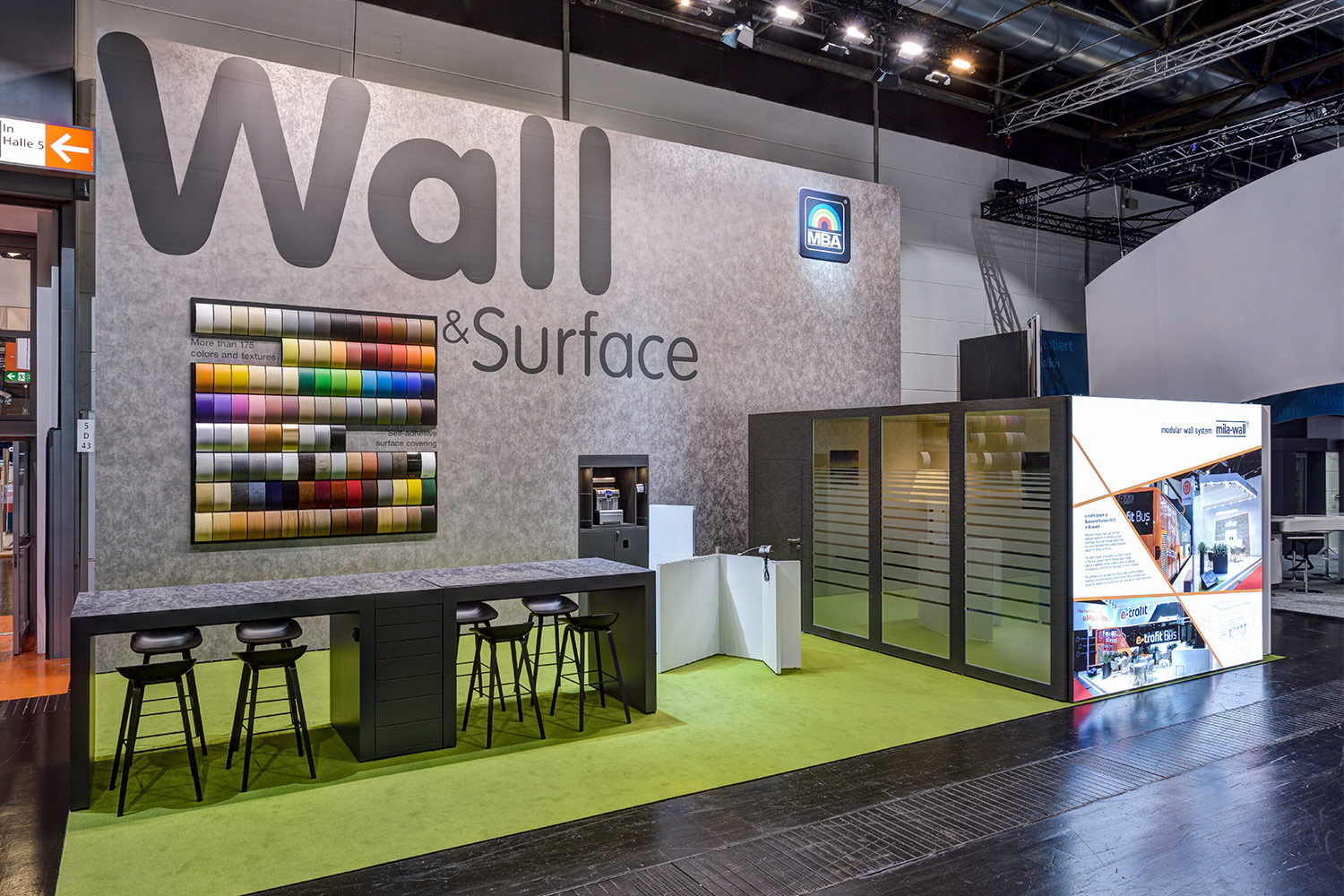 MBA presenting Mila-wall technology and surface foils at the Euroshop 2020 in Düsseldorf