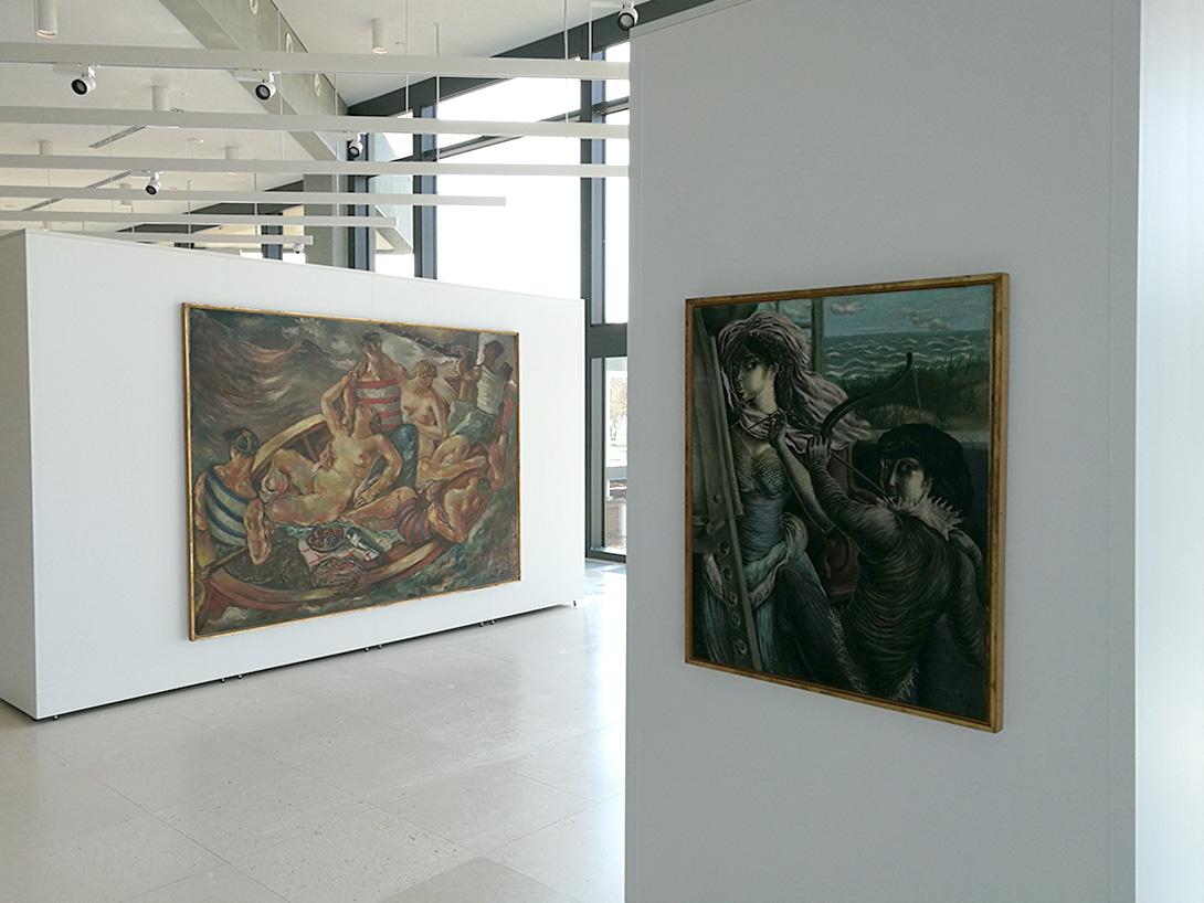 Unité de cloisons modulaires avec des modules Mila-wall au Musée d'art contemporain de Belgrade