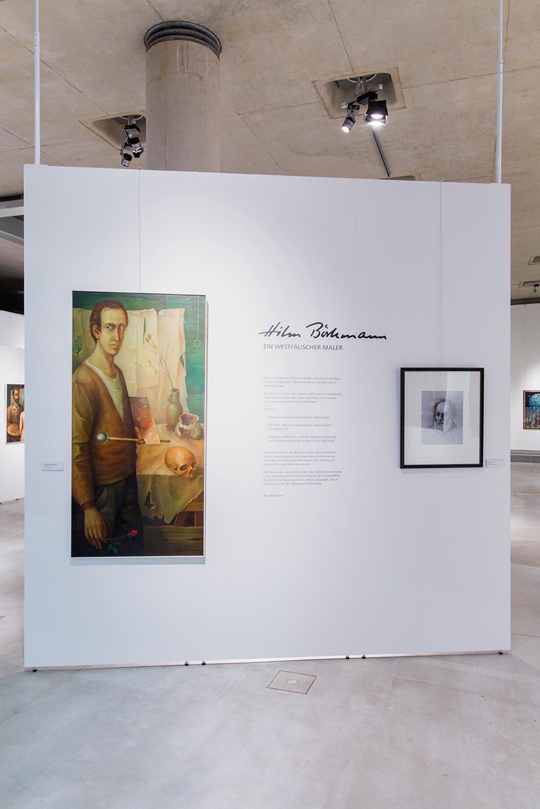Cloisons d'exposition Mila-wall avec exposition et éclairage au Musée d'archéologie de Herne