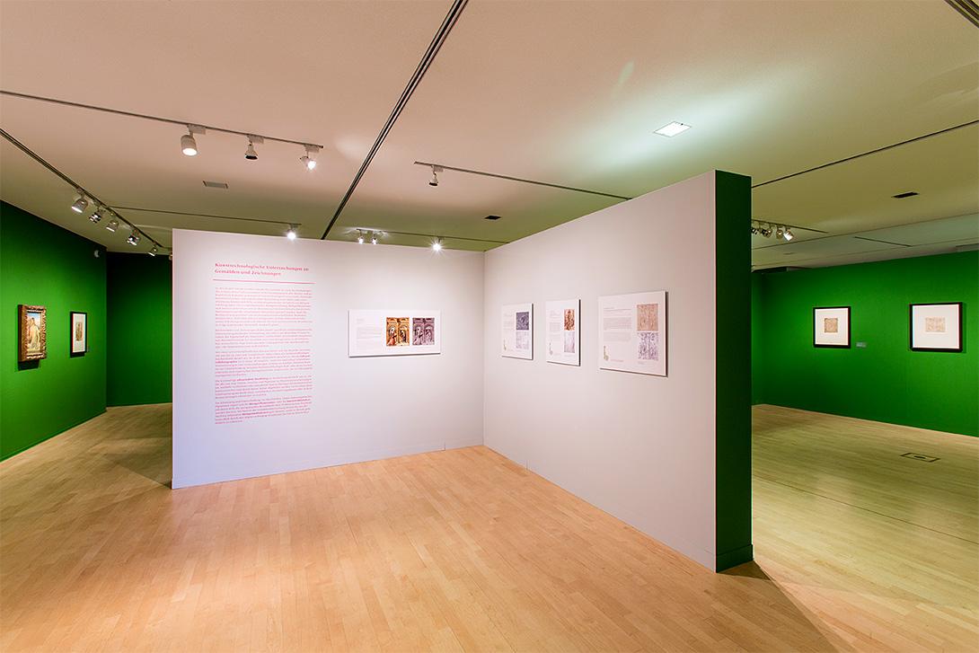 Salle d'exposition avec des corpus muraux Mila-wall de différentes couleurs dans le Kupferstichkabinett à Dresde