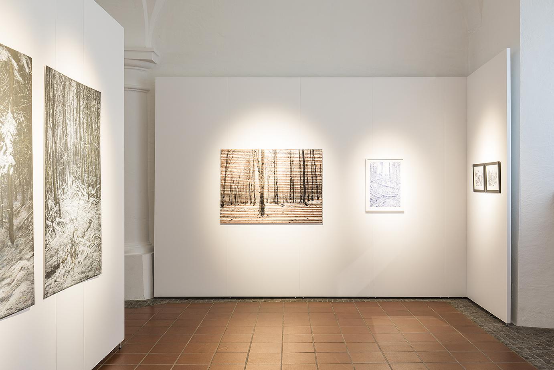 Ausstellungswände aus Mila-wall-Wandmodulen mit Bildern einer Ausstellung